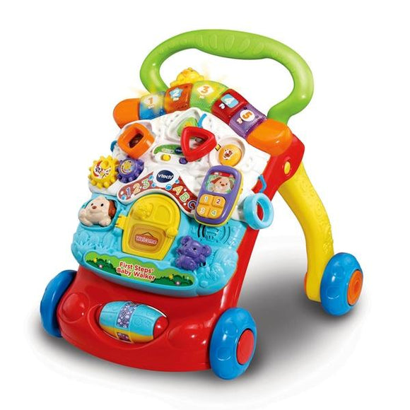 VTech First Steps Baby Walker - Multicolour - McGreevy's Toys Direct