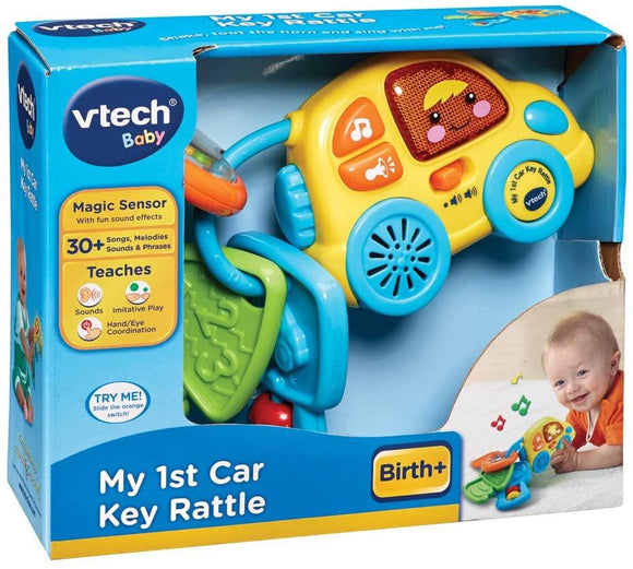VTech My 1st Car Key Rattle - McGreevy's Toys Direct