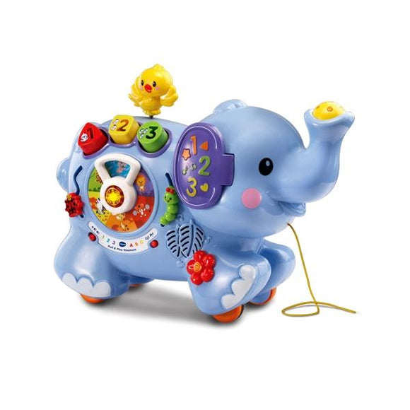 VTech Pull & Discover Activity Elephant - McGreevy's Toys Direct