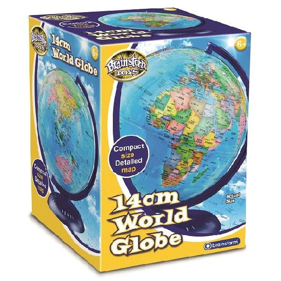 World Globe 14cm - McGreevy's Toys Direct