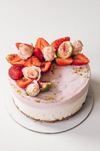 Strawberry Rose Pistachio Cake