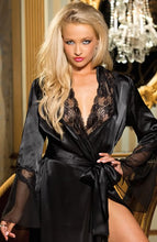 Load image into Gallery viewer, Shirley of Hollywood SoH 20559 Long Robe Black