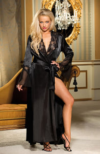 Shirley of Hollywood SoH 20559 Long Robe Black