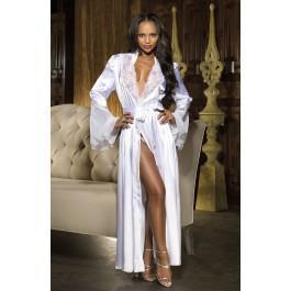 Shirley of Hollywood SoH 20559 Long Robe White