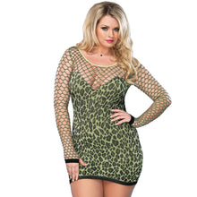 Load image into Gallery viewer, Leg Avenue Seamless Leopard Minidress UK 16 to 18