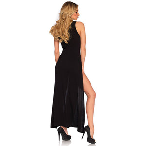 Leg Avenue Deep V Dual Slit Jersey Maxi Dress