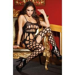Shirley of Hollywood SoH-HS 90329 Bodystocking Black One Size