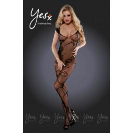 YesX YX407 Bodystocking Black