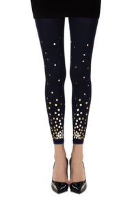 "Zohara ""You've Got A Point"" Navy Print Footless Tights"