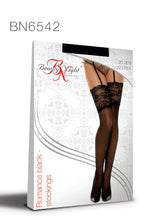 Load image into Gallery viewer, Romance Stockings Black