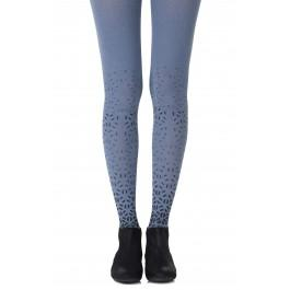 "Zohara ""Shape Up"" Heather Blue Print Tights"