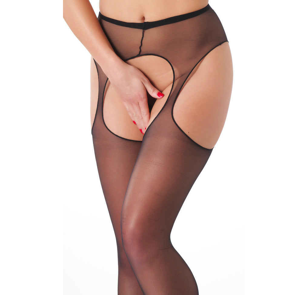 Black Suspender Tights