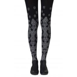 "Zohara ""Queen Bee"" Grey Print Tights"