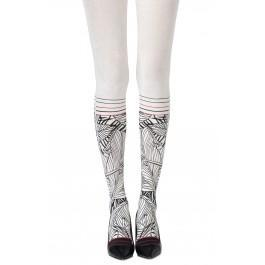 "Zohara ""Waikiki Nights"" Cream Tights"