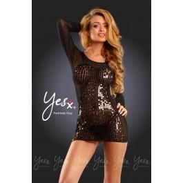 Yesx YX342 Dress & Thong Black