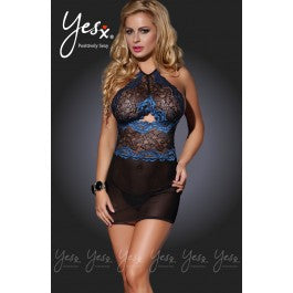 YesX YX635 Dress Set Black/Blue