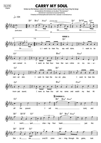 Carry my Soul sheet music | Phil Wickham