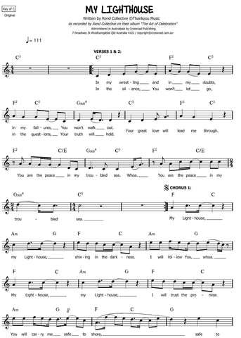 My Lighthouse sheet music | Rend Collective