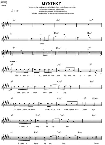 Mystery sheet music | Phil Wickham