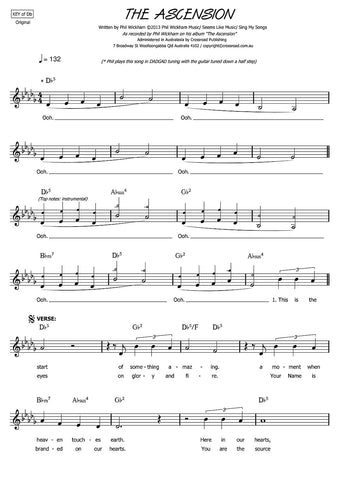 The Ascension sheet music | Phil Wickham