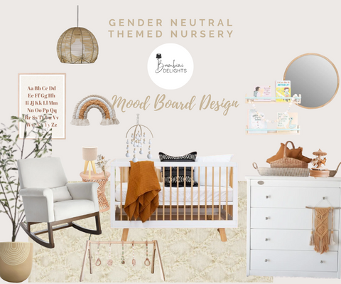 Gender Neutral Nursery Moodboard