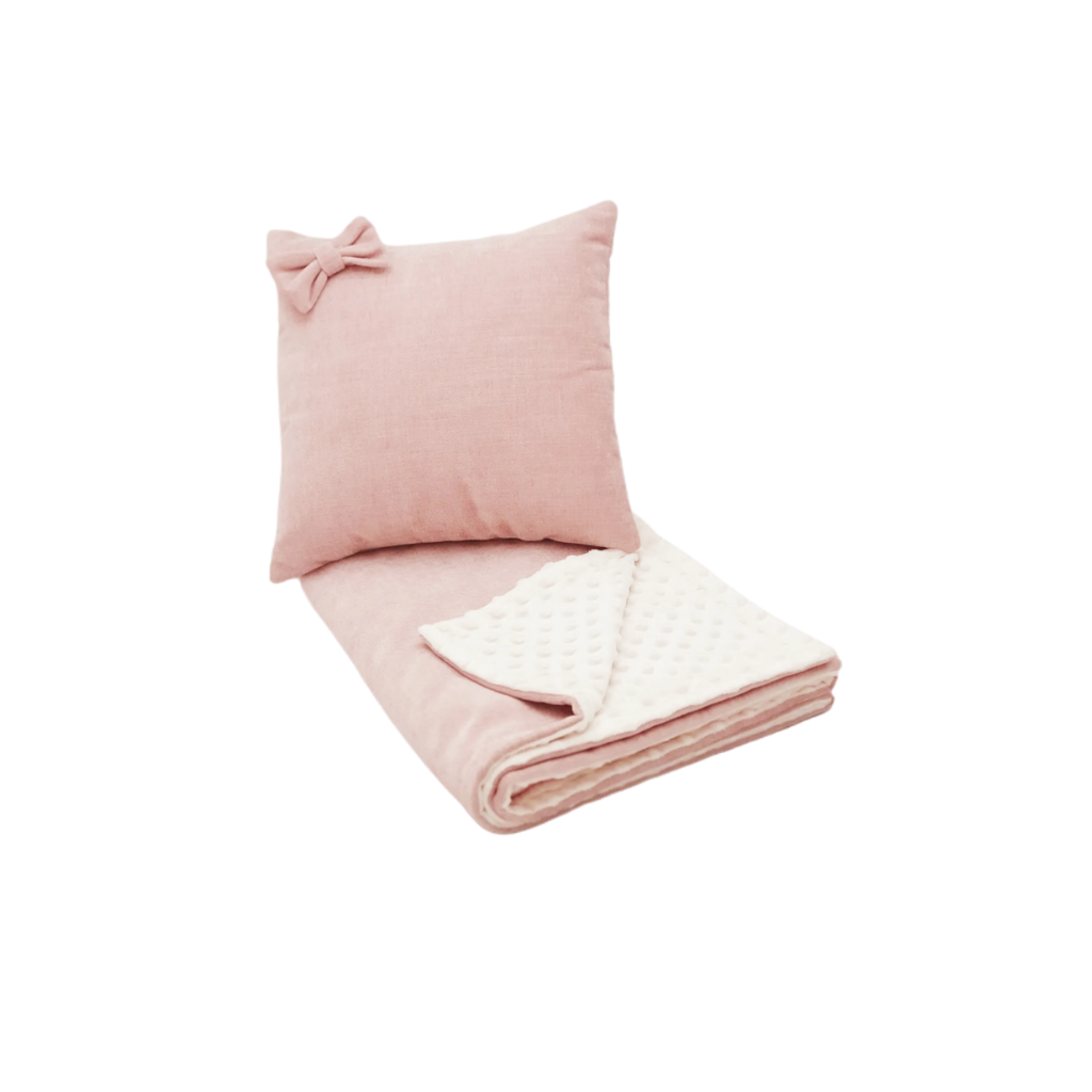 Velvet Blush - Cushion Blanket Combo