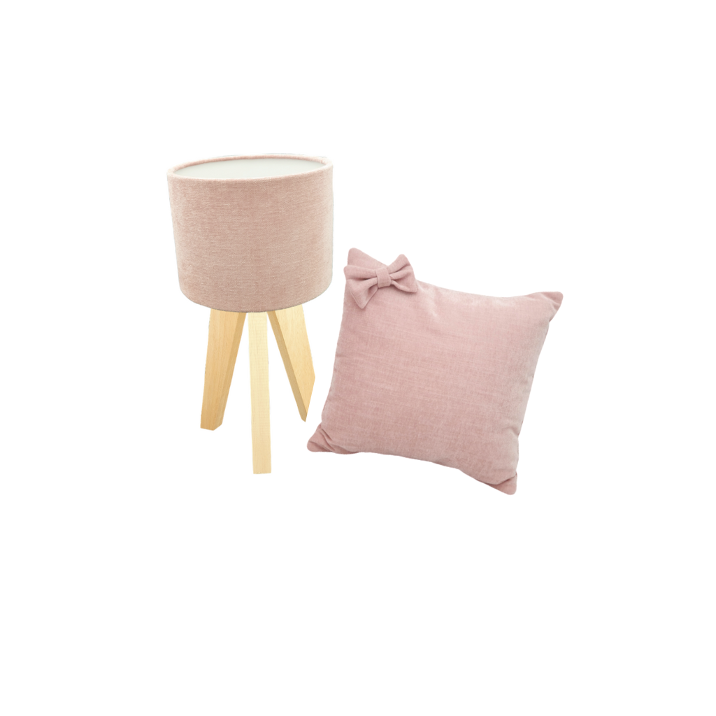 Velvet Blush - Lamp Cushion Combo