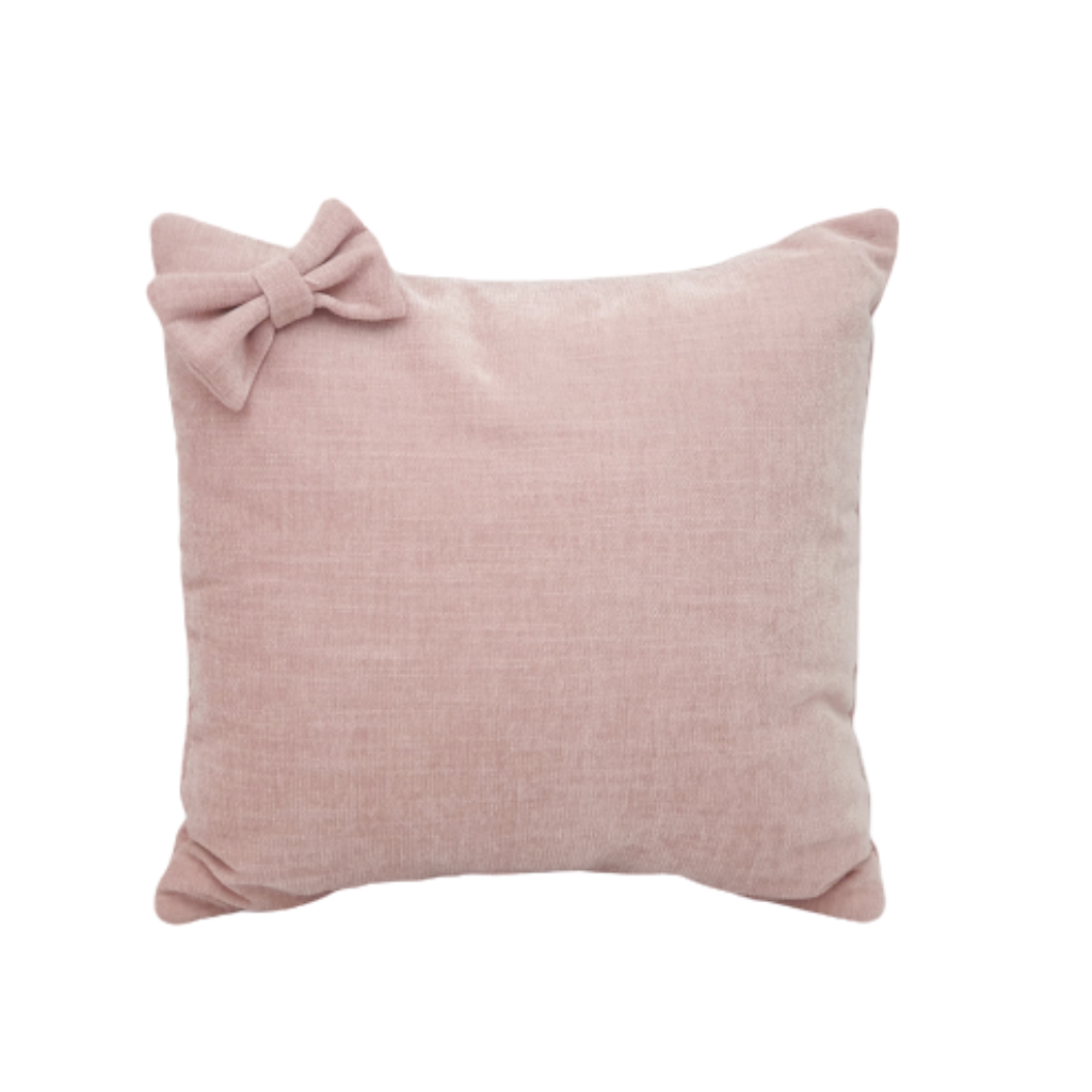 Velvet Cushion - Blush (With Bow)
