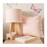 Pom Pom Pink Striations Cushion
