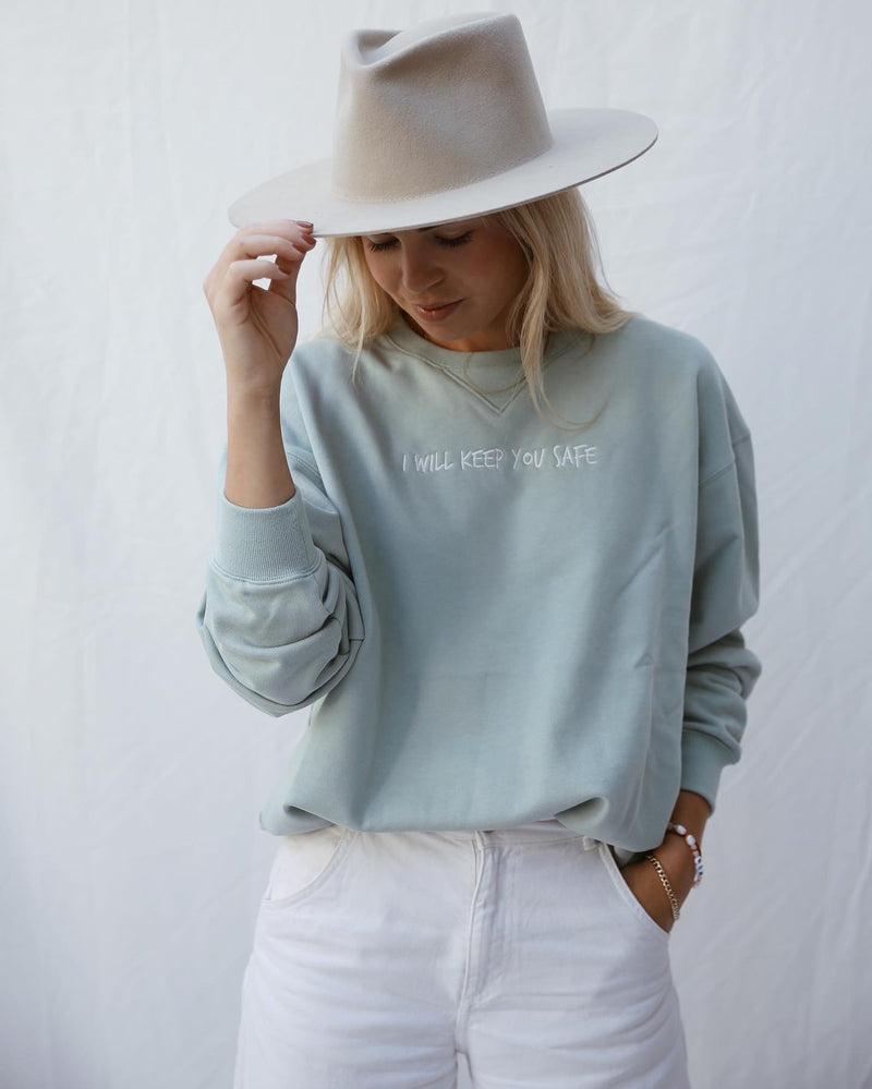 KEEP YOU SAFE Damen Sweatshirt - mint - fam vibes
