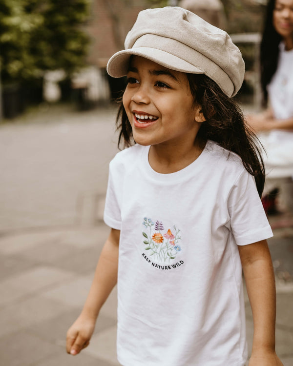 KEEP NATURE WILD Kids T-Shirt - weiß - fam vibes