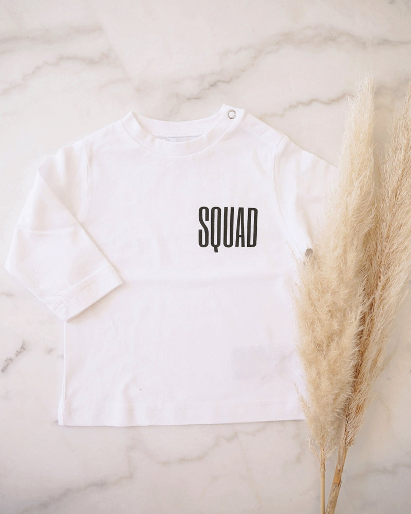 SQUAD Baby T-Shirt - weiß - fam vibes