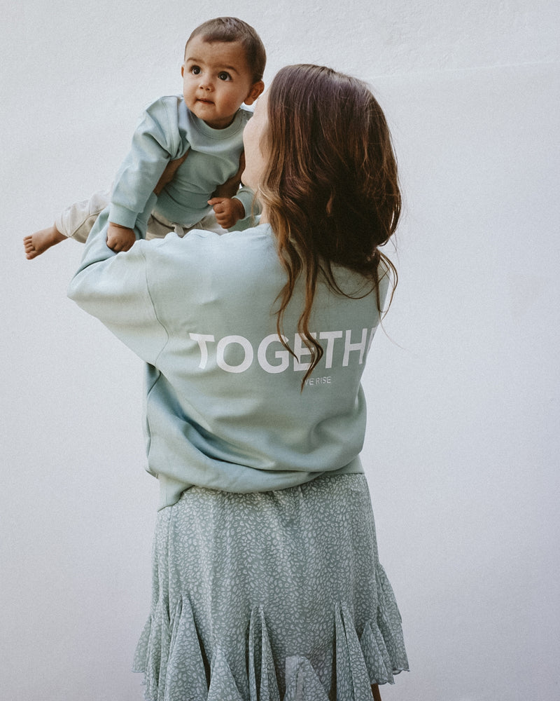 TOGETHER Damen Sweatshirt - mint - fam vibes