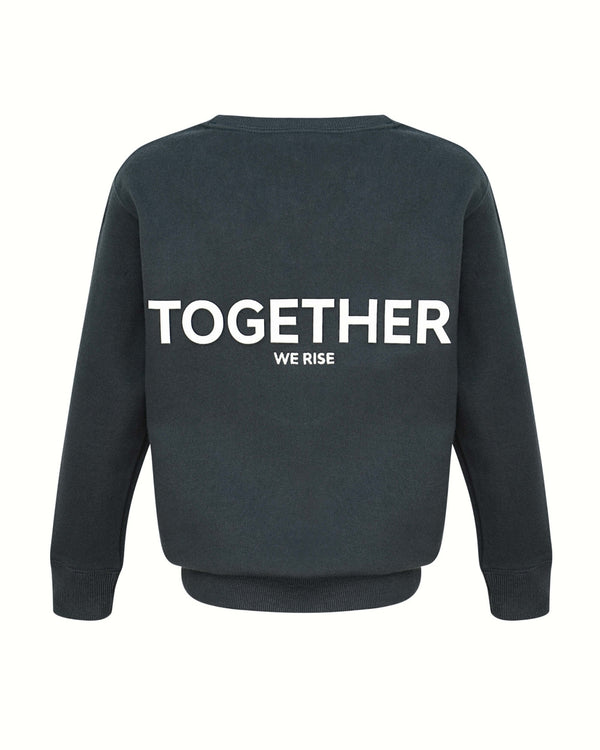 TOGETHER Kids Sweatshirt - grau - fam vibes