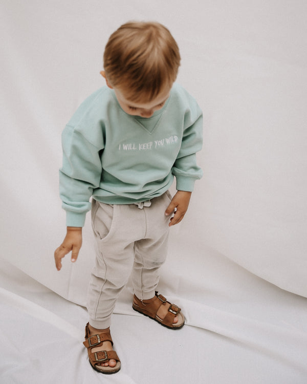 KEEP YOU WILD Baby Sweatshirt - mint - fam vibes