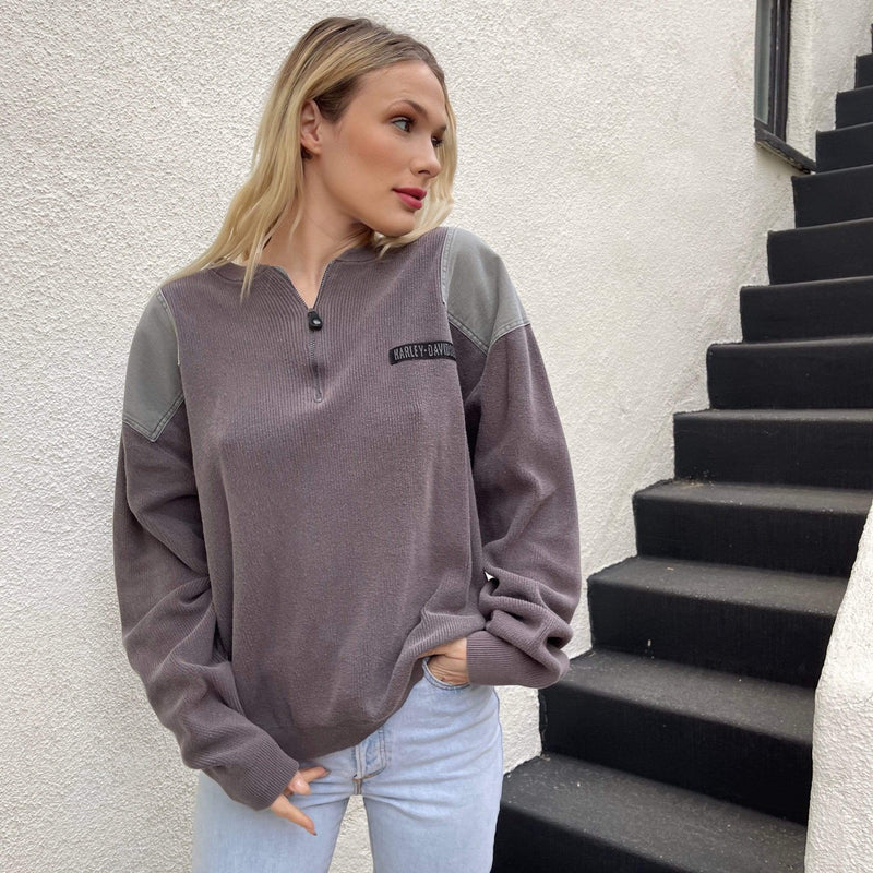 Maelo Crew Neck HARLEY CHICK QUARTER ZIP