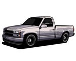 Coming Soon! OBS Chevy Truck Sticker (6 Inches)