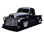 Coming Soon! 47/53 Chevy Pickup Sticker (6 Inches)
