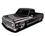 Coming Soon! 71/72 C10 Sticker (6 Inches)
