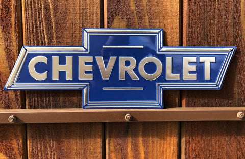 "Chevrolet Logo Metal Sign (20"")"