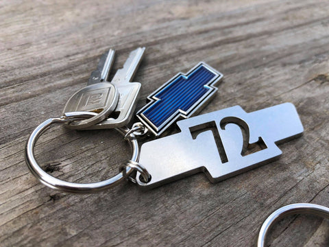 .SOLD OUT PRE-ORDER 2 Digit Stainless Steel Keychains Years from 1926/2021