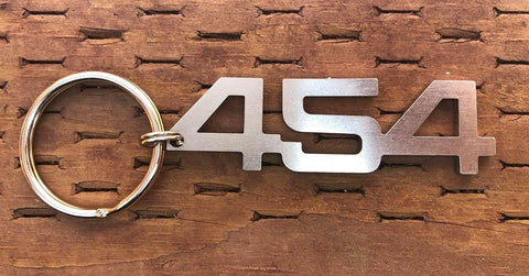 Stainless Steel 454 V8  Keychain