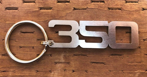 Stainless Steel 350 Chevy Keychain