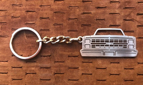 Third generation 1981–1987 Stainless Steel Truck Keychain  Front View