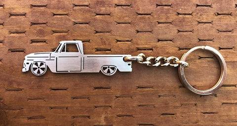 First generation 1964–1966 Stainless Steel Truck Keychain Side View