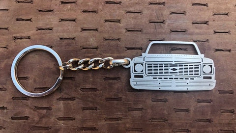 Third generation 1973–1980 Stainless Steel Truck Keychain Front View