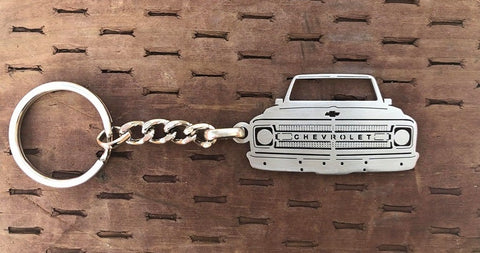 Second generation 1969–1970 Stainless Steel Truck Keychain Front View