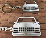 1988–1989 Chevy Front View Stainless Steel Key-chain
