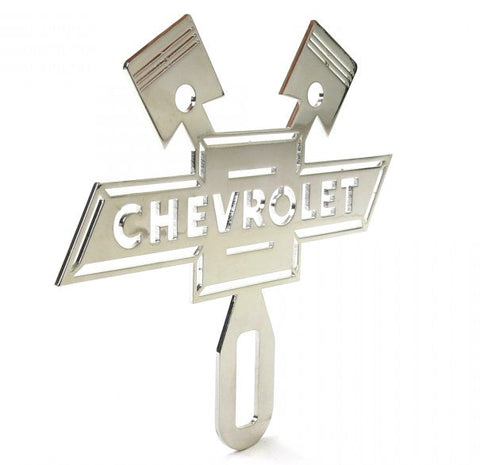 Chevrolet Stainless Steel Chromed License Plate Topper