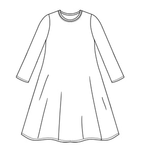 drawing of a long tshirt style tunic